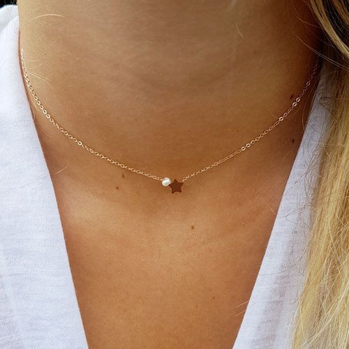 collier ras de cou rose gold