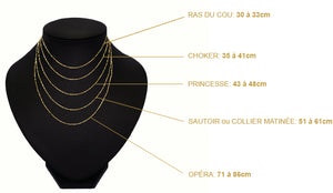 taille chaine collier femme