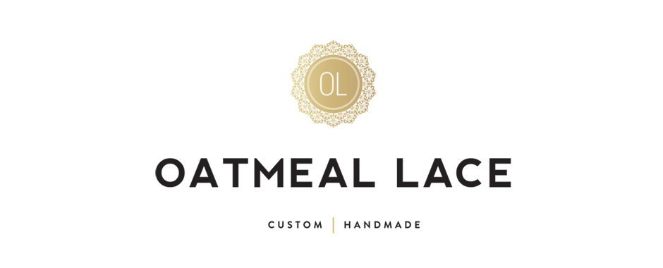 oatmeal lace custom embroidery