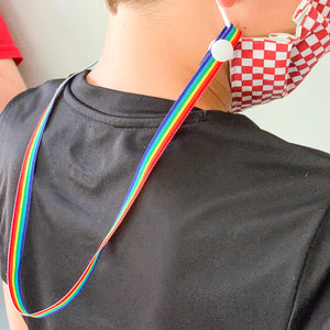 SALE - Rainbow Stripe Lanyard