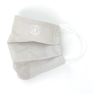 Monogrammed Mask - Dove Gray