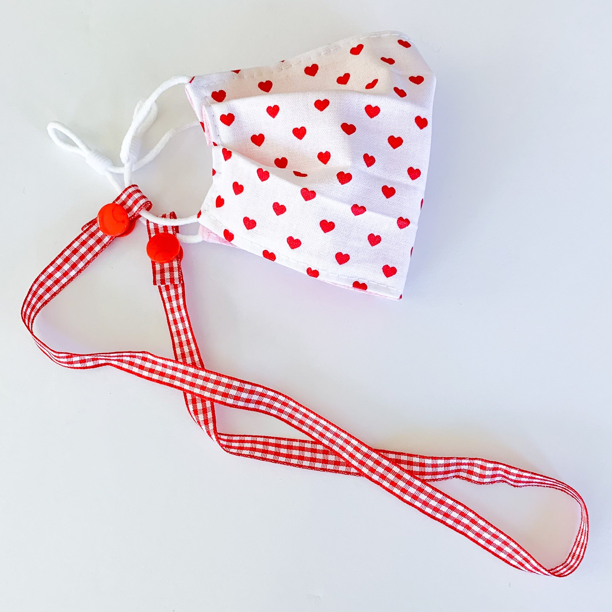 NEW - Red Gingham Mask Strap