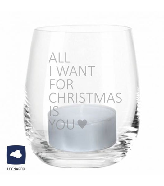 "Leonardo Windlicht ""All I Want for Christmas is You"" 