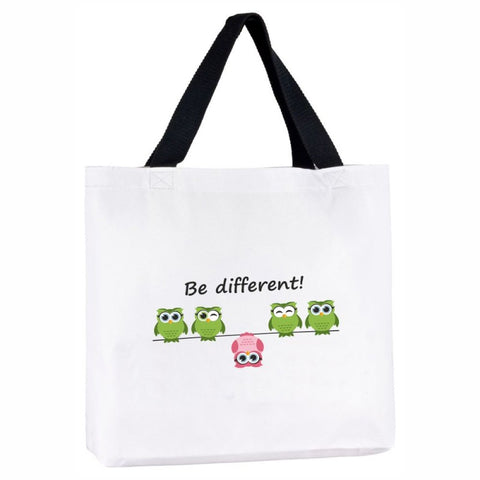 "Tasche ""Be different"" (Eulenmotiv)"