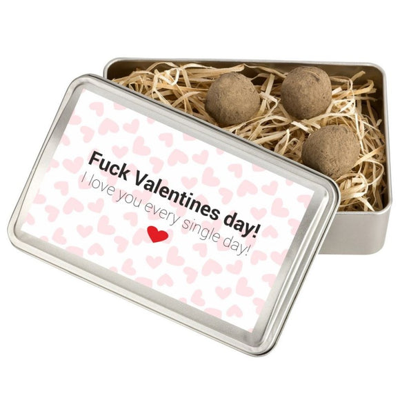 "Blumensaat-Geschenkbox ""Fuck Valentines day! I love you every single day!"""