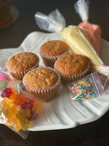 Kit de 4 cupcakes para decorar