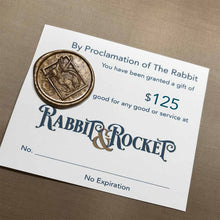 Load image into Gallery viewer, Rabbit & Rocket Gift Card