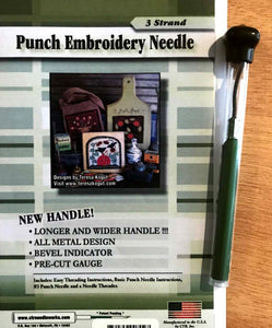 3-Strand Long Handle CTR Needleworks Punch Needle Set