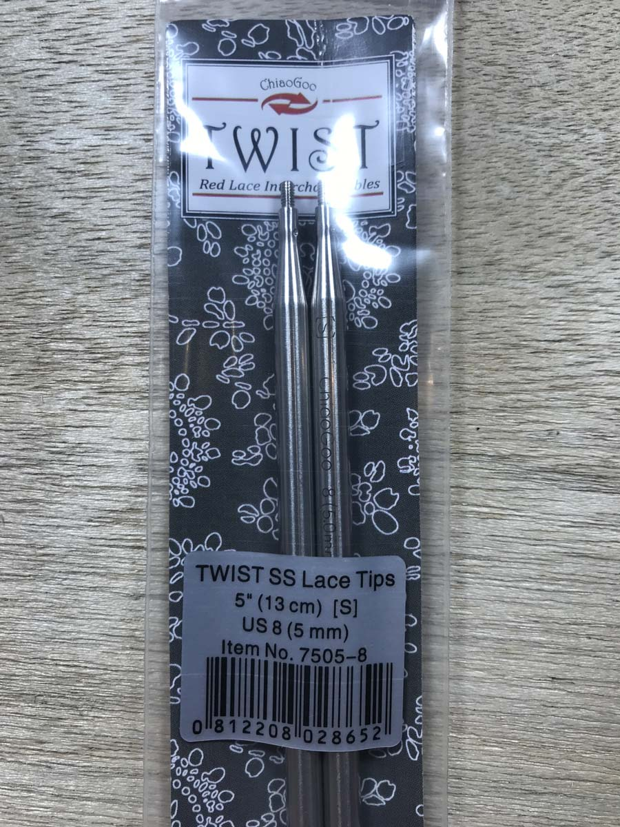 ChiaoGoo Twist Lace Tips<BR>US 8 - 5-inch