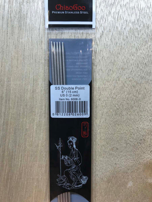 ChiaoGoo Double-Point Needles<BR>US 0 - 6-inch