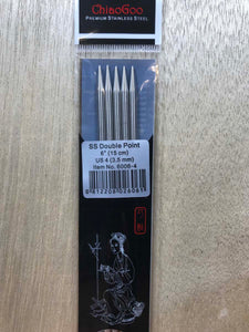 ChiaoGoo Double-Point Needles<BR>US 4 - 6-inch