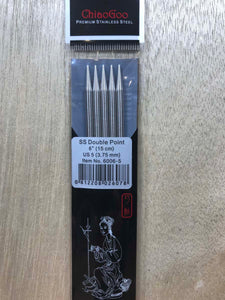 ChiaoGoo Double-Point Needles<BR>US 5 - 6-inch