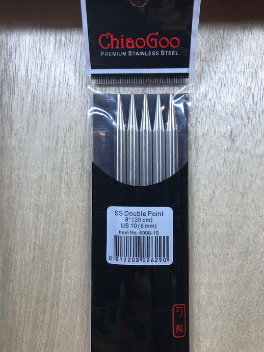 ChiaoGoo Double-Point Needles<BR>US 10 - 8-inch