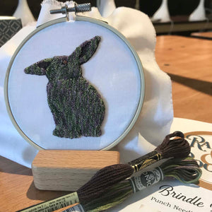 Punch Needle Brindle Bunny Kit