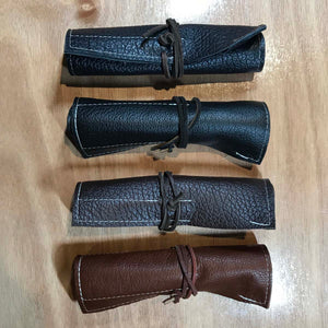 Rabbit & Rocket Leather Roll-Up - Smooth Brown