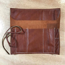 Load image into Gallery viewer, Rabbit & Rocket Leather Roll-Up - Smooth Brown