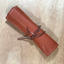 Load image into Gallery viewer, Rabbit & Rocket Leather Roll-Up - Rust Pebble