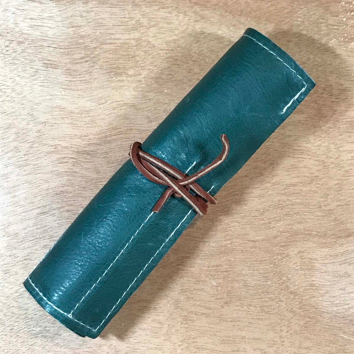 Rabbit & Rocket Leather Roll-Up - Smooth Deep Teal