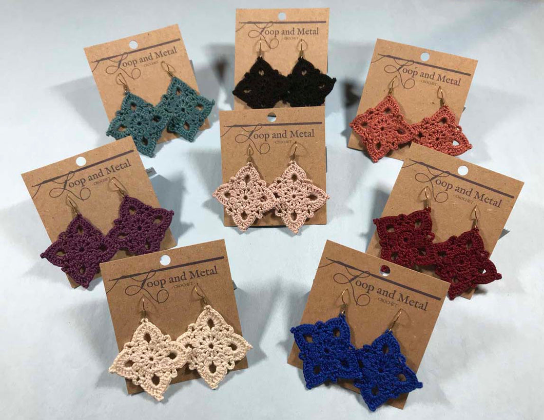 Royal Crochet Earrings