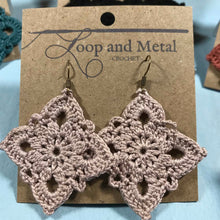Load image into Gallery viewer, Large Royal Crochet Earrings - Antique