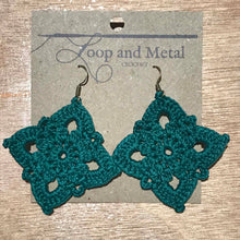 Load image into Gallery viewer, Royal Crochet Earrings