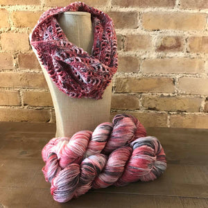 Lancaster Cowl Crochet version in Fairfield County Fair colorway.