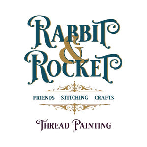 Rabbit & Rocket Thread Painting Starter Kit