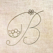 Load image into Gallery viewer, Floral Stitching Kit - Initial B