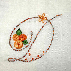 Floral Stitching Kit - Initial G