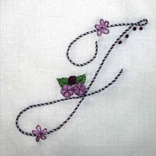 Load image into Gallery viewer, Floral Stitching Kit - Initial T