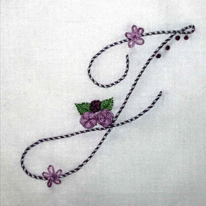 Floral Stitching Kit - Initial Q