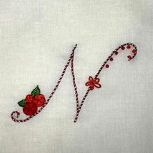 Load image into Gallery viewer, Floral Stitching Kit - Initial A