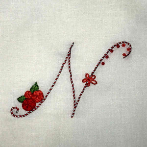Floral Stitching Kit - Initial I