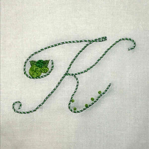 Floral Stitching Kit - Initial S