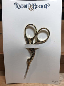 Embroidery Scissors - Gold Heron