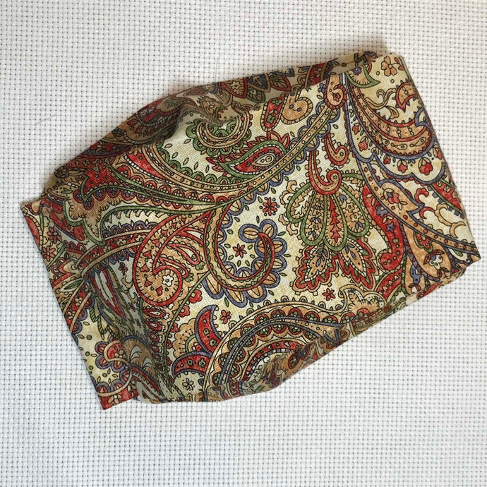 Mask with Filter Pocket - Holly's Paisley