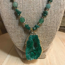 Load image into Gallery viewer, Kara Evans - Faceted Emerald Aventurine Pendant and Earrings