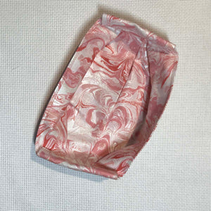 Mask with Filter Pocket - Pink Satin