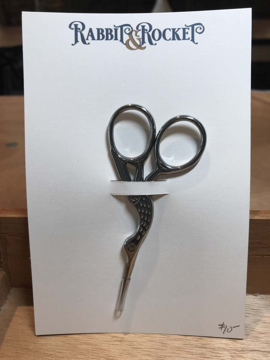 Embroidery Scissors - Silver Heron