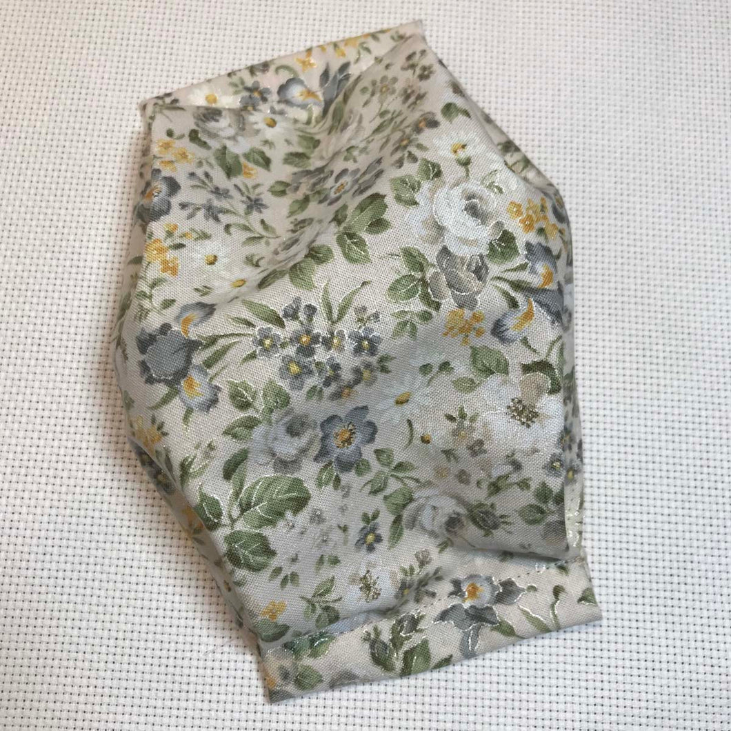 Mask with Filter Pocket - Victorian Floral