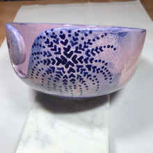 Load image into Gallery viewer, Hand-Painted Knitting Bowl - Light Purple Fern