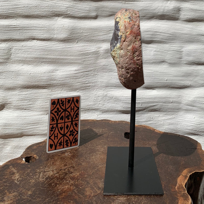 Geode on iron stand