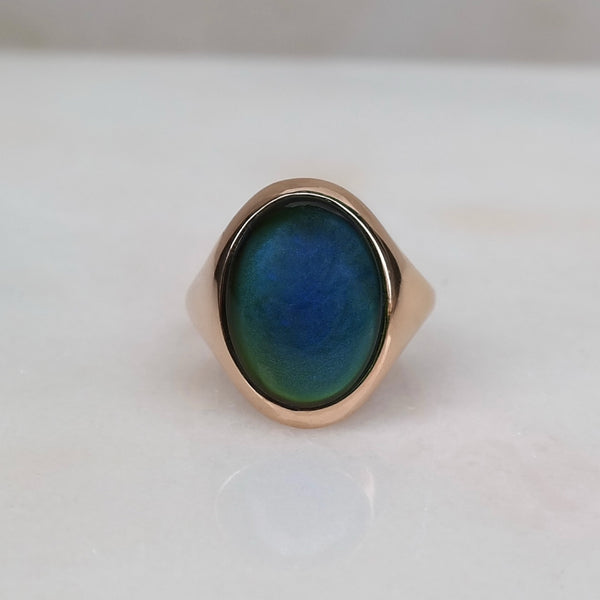 Mood ring 18k gold