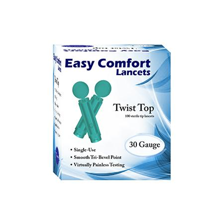 Easy Comfort Twist Top Lancets - 30G