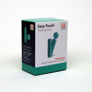 EasyTouch Universal Twist Lancets - 32G