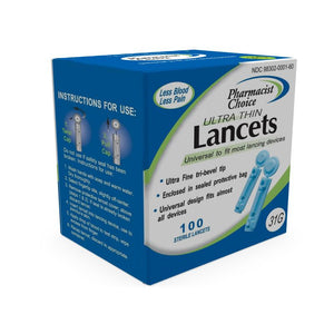 Pharmacist Choice Twist Top Universal Lancets 31G