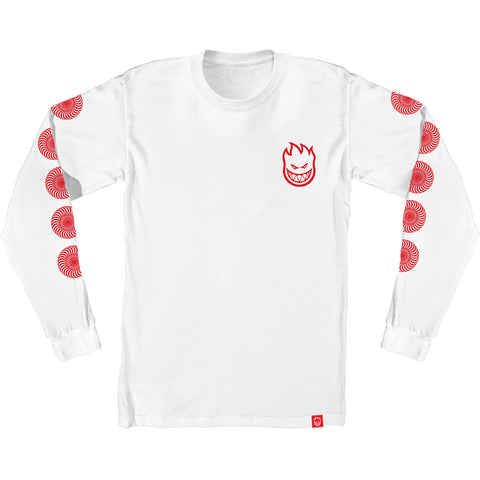 Spitfire Bighead Youth Long Sleeve Tee White