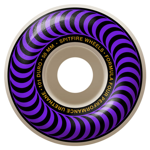 Spitfire Formula 4 Classic Swirl 101D 58mm Purple Skateboard Wheels