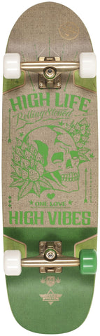 Dusters Vibes Hemp/Green Cruiser Skateboard