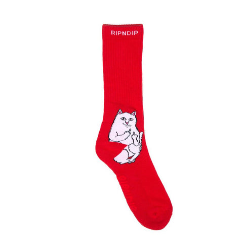 Rip N Dip Lord Nermal Socks Red